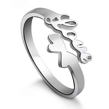 Ringen Verstelbaar Feest / Dagelijks / Causaal Sieraden Sterling zilver Dames Bandringen 1 Set,Verstelbaar