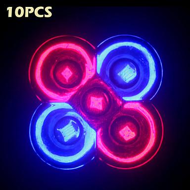 10pcs morsen® full spectrum 10w e27 / gu10 3red + 2blue led groei lichten voor hydroponics systeem