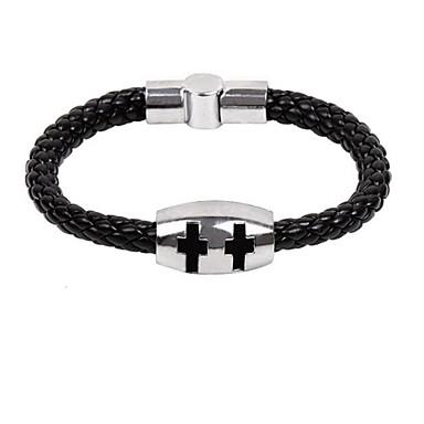 Werk / Informeel - Armband ( Legering / Leer / Titanium Staal