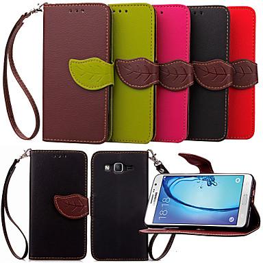 Voor Samsung Galaxy hoesje Kaarthouder / Portemonnee / met standaard / Flip hoesje Volledige behuizing hoesje Effen kleur PU-leer Samsung