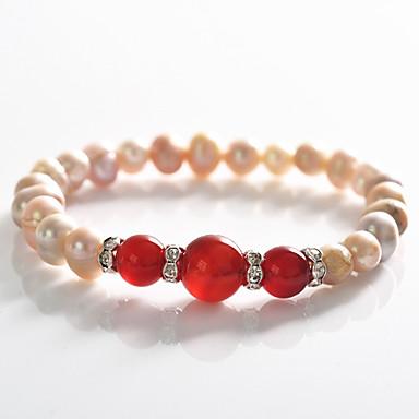 Dames Strand Armbanden Armband Parel Modieus Kostuum juwelen Parel Kristal Verzilverd Sieraden Voor Feest Speciale gelegenheden