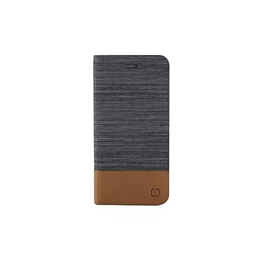 hoesje Voor Apple iPhone X iPhone 8 iPhone 6 iPhone 6 Plus Kaarthouder met standaard Flip Volledig hoesje Effen Kleur Hard PU-nahka voor
