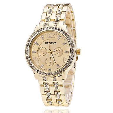 Kadın's Moda Saat Bilek Saati Quartz / Alaşım Bant Havalı Günlük Gümüş Altın Rengi Gül Altın