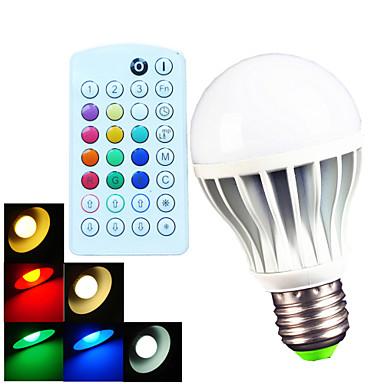 700 lm E26/E27 B22 Lâmpada Redonda LED A60(A19) 15 leds SMD 5730 Regulável Decorativa Controle Remoto Branco Quente Branco Frio Branco