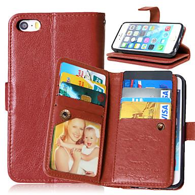 Capinha Para Apple iPhone X iPhone 8 Plus Capinha iPhone 5 Porta-Cartão Carteira Com Suporte Flip Magnética Capa Proteção Completa Côr
