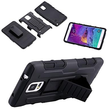 Para Samsung Galaxy Note Antichoque / Com Suporte Capinha Capa Traseira Capinha Armadura PC Samsung Note 5 / Note 4 / Note 3