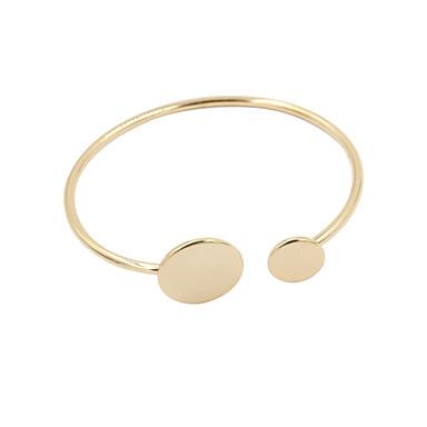 Dames Cuff armbanden Verstelbaar Open Legering Zilver Gouden Sieraden Voor Bruiloft Feest Dagelijks Causaal Sport 1 stuks