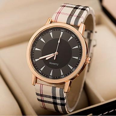 Mulheres Relógio de Pulso Relógio Casual PU Banda Listras / Fashion Azul / Rosa / Cáqui / Sony S626 / Dois anos
