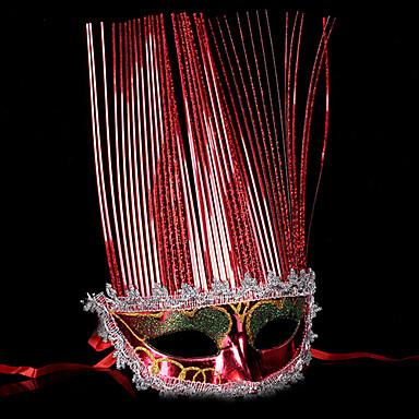 Carnaval Máscara Baile de Máscara Unisexo Dia Das Bruxas Carnaval Festival / Celebração Trajes da Noite das Bruxas Azul Prata Vermelho