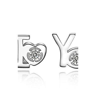 Dames Sterling zilver Zirkonia Oorknopjes - oorbellen Voor Bruiloft Feest Dagelijks