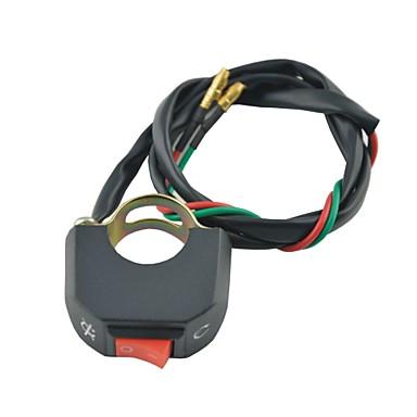 Переключатель руль мотоцикла на кнопку разъема переключателя включения / выключения 12V DC противотуманная фара света