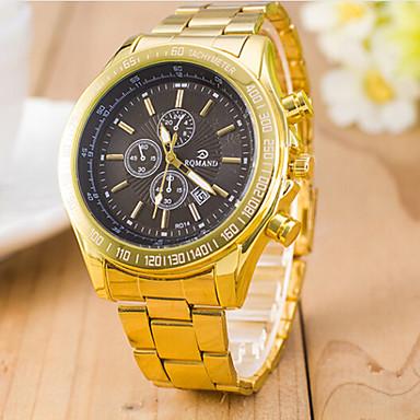 Mulheres Relógio de Moda Quartzo suíço Designer Lega Banda Amarelo Branco Preto Azul