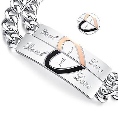 Gepersonaliseerde sieraden - Lovers - Titanium Staal - goud / zilver - Armbanden -