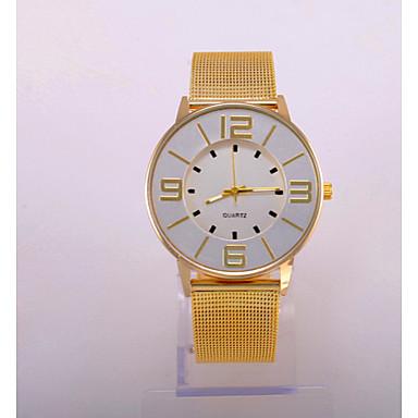 Dames Modieus horloge Vrijetijdshorloge Kwarts Band Goud