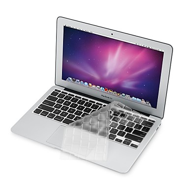 ultra dunne transparante TPU soft-toetsenbord beschermer cover + beschermende helder scherm guard voor 11,6