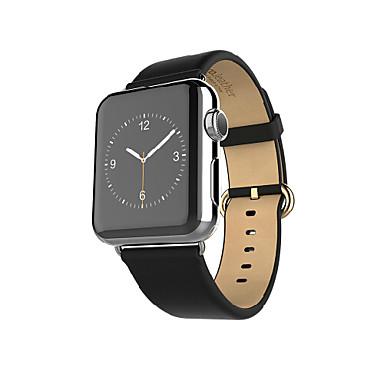 Horlogeband voor Apple Watch Series 3 / 2 / 1 Apple Polsband Klassieke gesp Echt leer