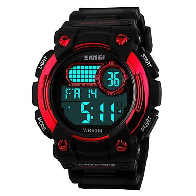 SKMEI Homens Relógio Esportivo Relógio de Pulso Digital LCD Calendário Cronógrafo Impermeável alarme Relógio Esportivo Borracha Banda