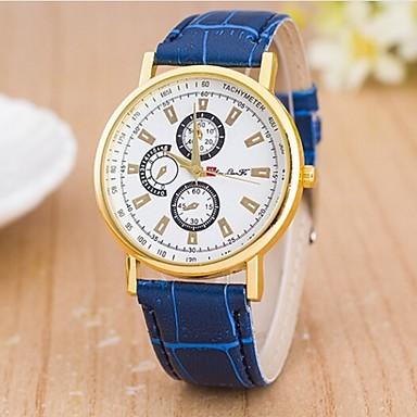 Mulheres Relógio de Moda Relógio Casual Quartzo Couro Banda Preta Azul Marrom