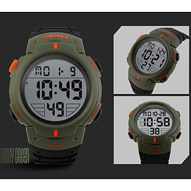 זול שעוני גברים-SKMEI בגדי ריקוד גברים שעוני ספורט שעון יד שעון דיגיטלי דיגיטלי גומי שחור 30 m עמיד במים Alarm לוח שנה דיגיטלי כחול ירוק האנטר מוזהב / כרונוגרף / LCD
