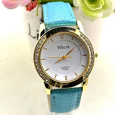 Mulheres Relógio de Moda Quartzo Lega Banda Preta Branco Azul Amarelo Branco Preto Laranja Amarelo Azul