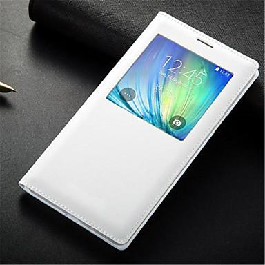 Capinha Para Samsung Galaxy com Visor Flip Capa Proteção Completa Côr Sólida PU Leather para A3