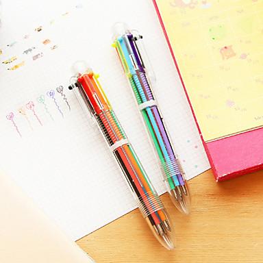 Caneta Caneta Canetas esferográficas Caneta, Plástico Vermelho Preto Azul Amarelo Dourado Verde cores de tinta For material escolar