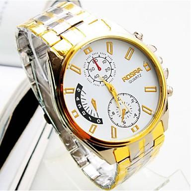 Homens Relógio de Moda Quartzo Lega Banda Prata
