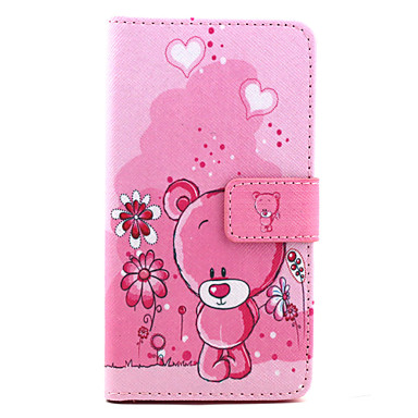 Voor LG hoesje Hoesje cover Kaarthouder Portemonnee met standaard Flip Patroon hoesje Cartoon Hard voor LG Other