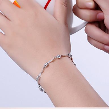 Dames Sterling zilver Armbanden met ketting en sluiting Bedelarmbanden - Wit Paars Armbanden Voor Kerstcadeaus Bruiloft Feest
