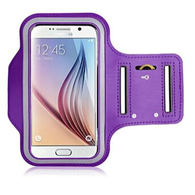 Недорогие Чехлы и кейсы для Galaxy S6 Edge-Кейс для Назначение универсальный S6 edge / S6 / S5 с окошком / Нарукавная повязка С ремешком на руку Однотонный Мягкий текстильный