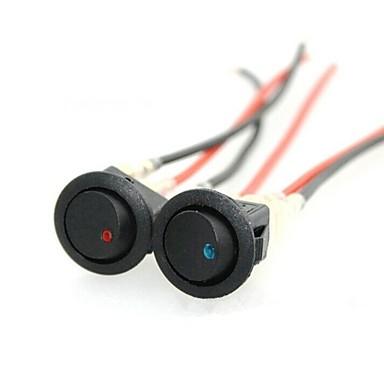 iztoss 16a 12v 4pcs redondos levou indicador roqueiro chave seletora de 3 pinos interruptor on-off spst para barco carro caminhão de