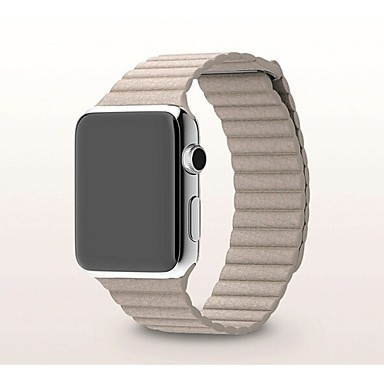 Horlogeband voor Apple Watch Series 3 / 2 / 1 Apple Polsband Milanese lus Echt leer