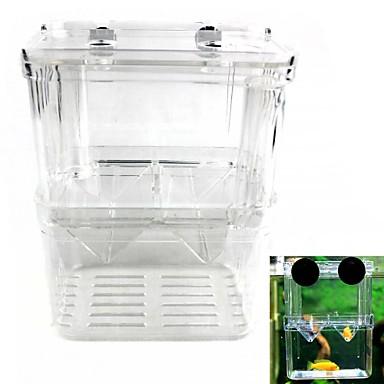 duplo isolamento incubadora caixa de reprodução de peixes juvenis (tamanho L)