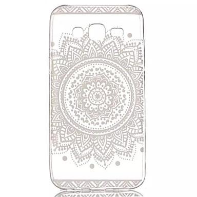 kant bloemen patroon zacht materiaal transparant TPU telefoon geval voor Samsung Galaxy j5