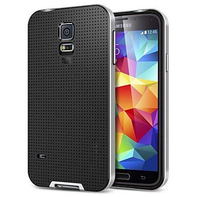 caso duro altamente protetor padrão de grade híbrida para Samsung Galaxy i9600 S5