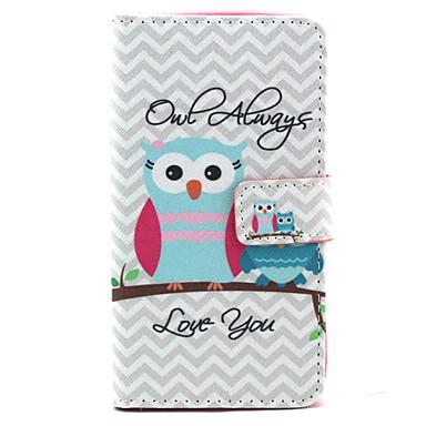 Para Capinha LG Case Tampa Porta-Cartão Carteira Com Suporte Flip Estampada Capinha Corujas Rígida para LG