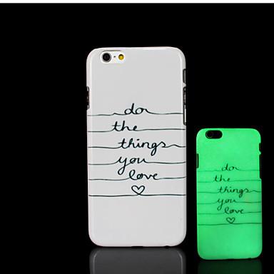 Expresie motto model strălucire în capacul din spate din plastic dur de culoare închisă pentru iPhone 6 pentru cazul 6s iphone