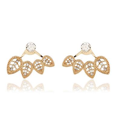 أقراط الزر المجوهرات الفاخرة تقليد الماس سبيكة ذهبي فضي مجوهرات إلى زفاف حزب يوميا 1 زوج