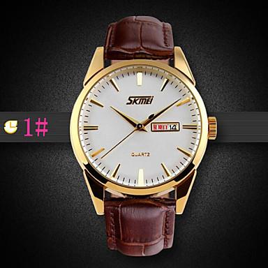 זול שעוני גברים-בגדי ריקוד גברים שעון יד קווארץ קוורץ יפני עור שחור / חום 30 m עמיד במים אנלוגי 2# 3# 4#