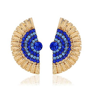 Kadın's Vidali Küpeler Lüks Moda Simüle Elmas alaşım Mücevher Siyah Koyu Mavi Açık Mavi Düğün Parti Günlük Kostüm takısı