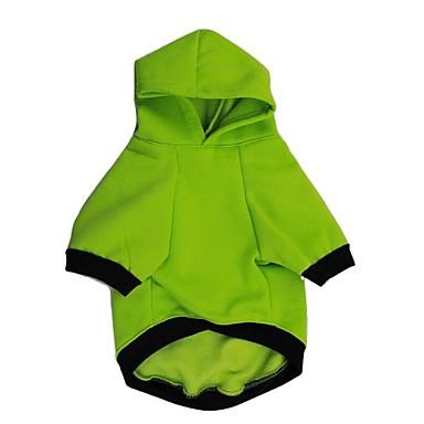 Hund Kapuzenshirts Hundekleidung Lässig/Alltäglich Buchstabe & Nummer Weiß Grün Kostüm Für Haustiere