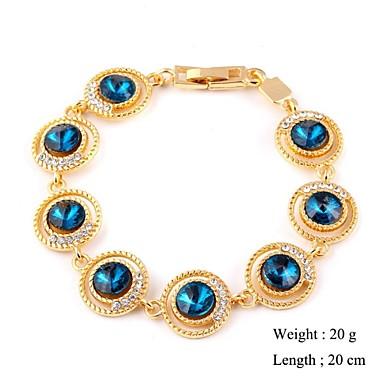 Dames Armbanden met ketting en sluiting Bedelarmbanden Kubieke Zirkonia Wit Rood Blauw Gouden Sieraden VoorBruiloft Feest Dagelijks