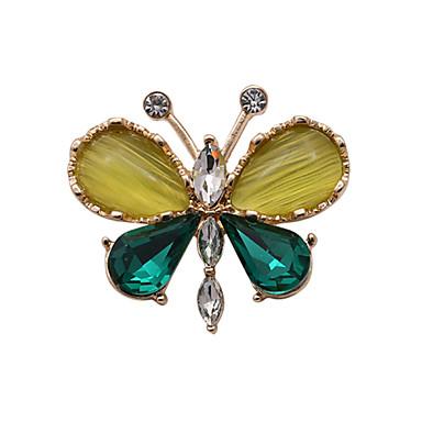 Dames Kristal Luxe Edelsteen Strass Glas Opaal Gesimuleerde diamant Legering Vlinder Dier Sieraden Voor Bruiloft Feest Dagelijks Causaal