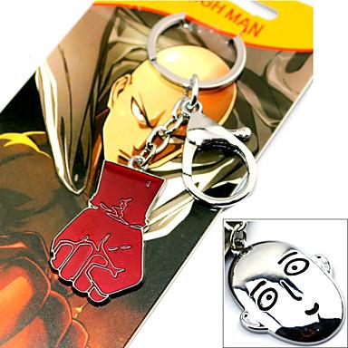 Meer Accessoires geinspireerd door One Punch Man Cosplay Anime Cosplayaccessoires Sleutelhanger Legering Heren nieuw / heet