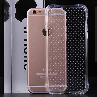 Voor iPhone 6 hoesje / iPhone 6 Plus hoesje Transparant hoesje Achterkantje hoesje Effen kleur Zacht TPUiPhone 6s Plus/6 Plus / iPhone