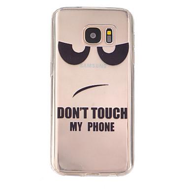 Voor Samsung Galaxy S7 Edge Hoesje cover Reliëfopdruk Achterkantje hoesje Woord / tekst TPU voor Samsung Galaxy S7 plus S7 edge plus S7