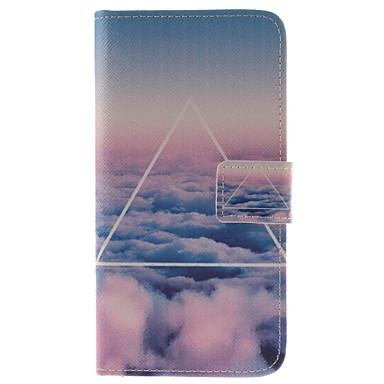 Voor Samsung Galaxy hoesje Kaarthouder / met standaard / Flip / Patroon / Magnetisch hoesje Volledige behuizing hoesje Landschap PU-leer
