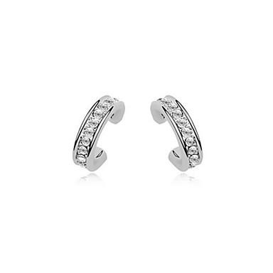 Brincos Curtos Cristal Prata Dourado Jóias Para Casamento Festa Diário Casual 1 Conjunto