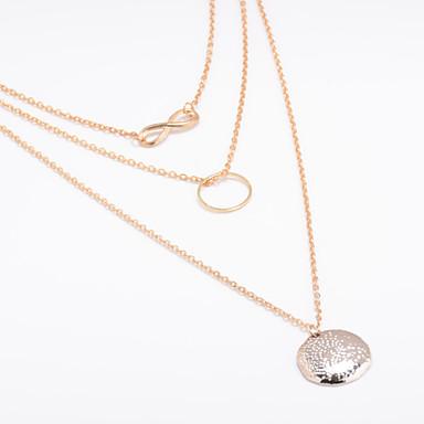 39ccfe746f6b Mujer Collares con colgantes envolver collar collar de trinidad infinito  damas Europeo Estilo Simple Moda Dorado