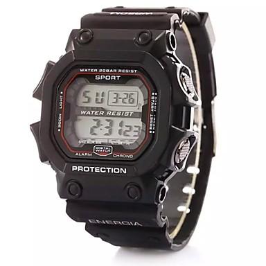 Παιδικά Ψηφιακό ρολόι Μοδάτο Ρολόι Αθλητικό Ρολόι Ψηφιακό Συναγερμός Ημερολόγιο Χρονογράφος LCD Plastic Μπάντα Φυλαχτό Μαύρο